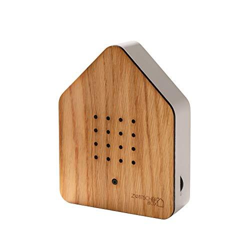 RELAXOUND Cherry Wood Zwitscher Box - Bird Chirping Ambient Sound - Battery Powered