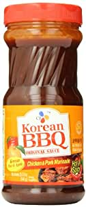 CJ Hot and Spicy Chicken and Pork Marinade Korean BBQ Sauce, 29.63 Ounce (Pack of 8)
