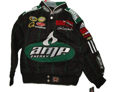 - Dale Earnhardt Jr. Youth Twill Jacket Small 5/6 Amp Racing