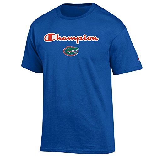 (Champion Men's NCAA Classic Jersey Script/Team Logo Cotton T-Shirt-Florida Gators-Royal-XL)