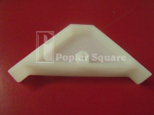 12/Bag White Plastic Corner Brace #1693WH - White Poplar Cabinet