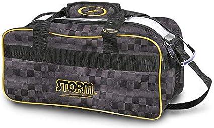 Storm 2 Ball Tote Bowling Bag w// shoe pocket Black//Gold /& Storm Keychain