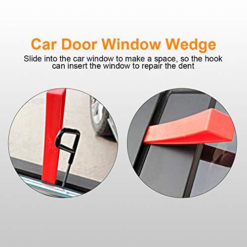 Keenso Red Window Wedge, Plastic Car Door Wedge Car Window Wedge Repair Paintless Dent Repair Tools Unlock Lockout Kit (5pcs) by Keenso (Image #1)