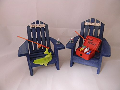 Wedding Retirement Party Fishing Adirondack Chairs Cake Topper