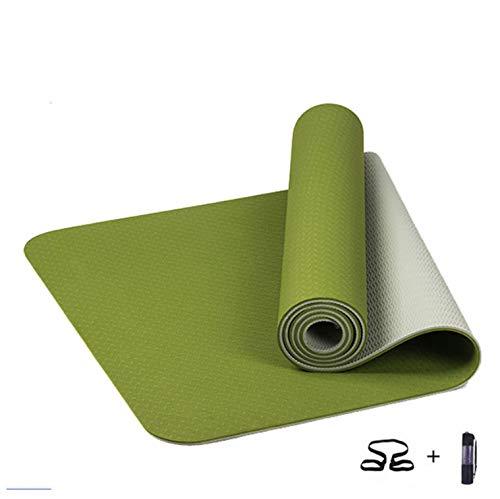 Shi18sport 6 Mm TPE Yoga-Matte Anti Slip Sport Fitness Übung Pilates Gym Colchonete Für Anfänger Mit Yoga Tasche 183X61X0,6 cm
