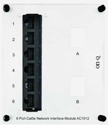 Legrand - On-Q AC1012 6Port Cat 5e Network Interface Module Cat5e Network Interface Module