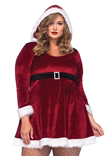 Leg Avenue Women's Plus-Size Sexy Santa, Red, 1X/2X - Plus Size Sexy Mrs Claus Costumes