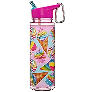 3C4G Super Sweet Tritan Water Bottle with Aluminum Carabiner, Cones/Cupcakes