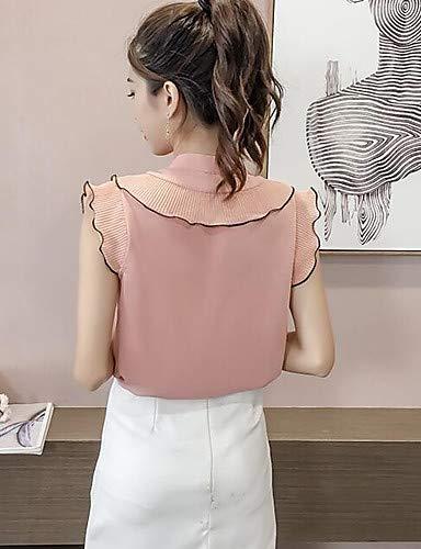 Unie de Blouse Femme Couleur YFLTZ Blushing Support Pink 1twqd1xX5