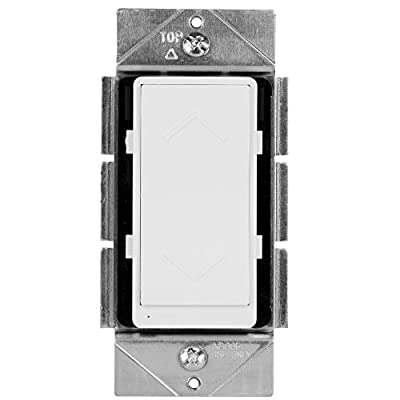 ZigBee Dimmer by Enerwave, Smart Dimmer Switch, In-Wall ZigBee Dimmer Switch, Dimmer Switch for LED and CFL, ZB500D, Neutral Wire Required, Interchangeable Face Covers