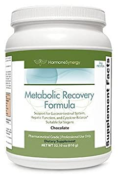 Metabolic Recovery Formula Chocolate Gastrointestinal, Hepatic and Intestinal Support* 26g Vegan Protein Non-Gmo Pea Rice MeadowPure, Aminogen Quatrefolic