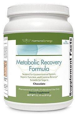 Metabolic Support Formula - Metabolic Recovery Formula Chocolate   Gastrointestinal, Hepatic and Intestinal Support*   26g Vegan Protein   Non-Gmo Pea/Rice   MeadowPure, Aminogen® & Quatrefolic®