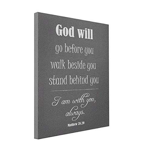 Wall Art Inspirational God Will Quote With Bible Verse 8x10 Canvas Print