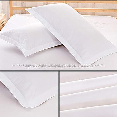 Jessie&Eleven - Juego de sábanas de 3 piezas, suave algodón cepillado y resistente a las manchas, algodón, Blanco, pillowcase: Amazon.es: Hogar