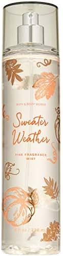 Bath and Body Works SWEATER WEATHER Fine Fragrance Mist 8 Fluid Ounce (2019 Edition)