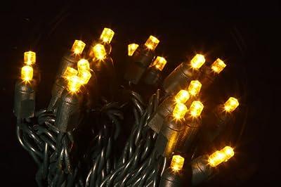 5mm Yellow Christmas lights - Yellow wide angle christmas lights