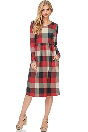 Plaid And Floral Dress - 7