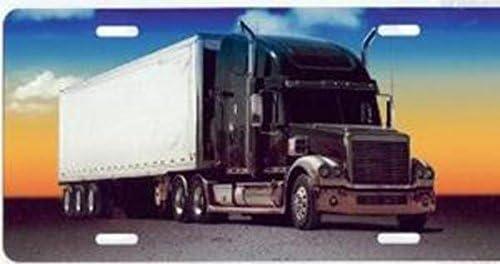 Full Color Semi Truck License Plate
