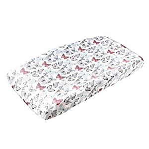 """Premium Knit Diaper Changing Pad Cover""""Dot"""" by Copper Pearl"""