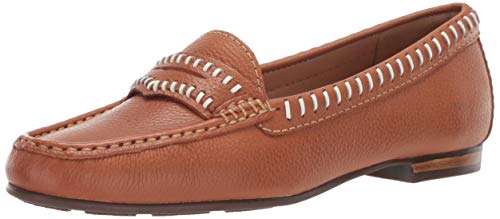 Driver Club USA Womens Leather Made in Brazil Maple Ave Loafer, tan Grainy, 6 M US