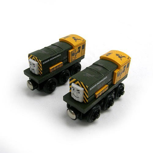 Magnets To Connect To Other Trains - Thomas and Friends Wooden Railway Iron Arry and Bert As Seen On Day of the Diesels (Thomas And Friends Iron Arry And Bert)