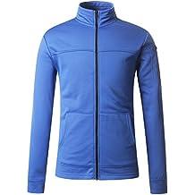 Regna X Men's Lightweight Performance Fleece Hooded/Stand-up Neck Jacket