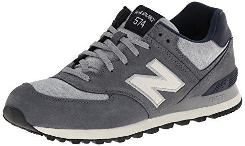 New Balance Men's ML574 Pennant Pack Running Shoe,Grey/White,10 D US ...