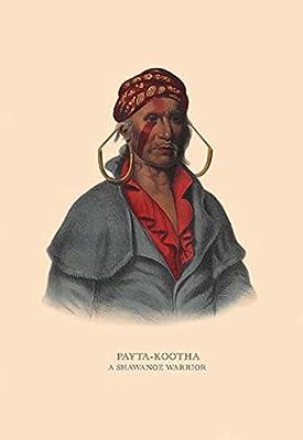 "Payta-Kootha (A Shawanoe Warrior)Fine art canvas print (20"""" x 30"""")"