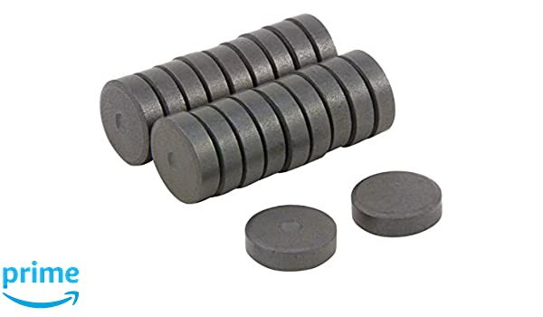 6mm dia x 3mm thick Y10 Ferrite Magnets Pack of 20