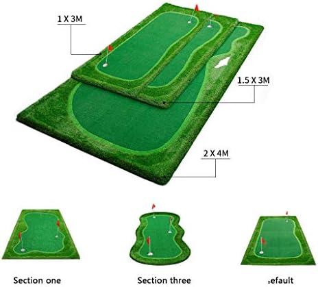 ゴルフインドアグリーン、パタートレーニング、プロフェッショナルゴルフプラクティスマット、ミニゴルフプラクティストレーニング補助器具、ゲーム、家庭、オフィス、屋外用ギフト– 6ボール
