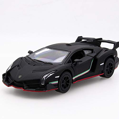 Generic Hot Sell 1 32 Veneno Diecast Alloy Metal Racing Car Mini Model Collection Model Pull Back Toys Wheel Car Gift for Boy Black
