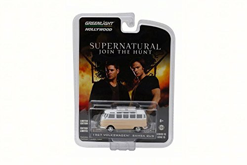 Supernatural Rainbow Motors 1964 Volkswagen Samba Bus, Peach - Greenlight 44730 - 1/64 Scale Diecast Toy Car (1964 Natural)