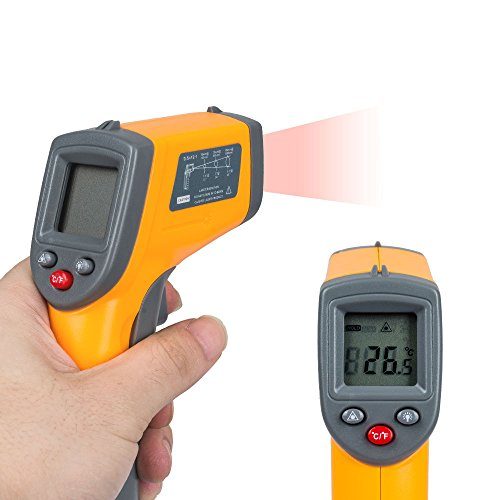 Price comparison product image TOP-MAX Non Contact LCD Digital Laser IR Infrared Thermometer Temperature Gun Range Measurement Yellow Black -50-360°C