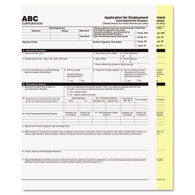 Digital Carbonless Paper, 8-1/2 X 11, Two-Part, White/canary, 1250 Sets/carton