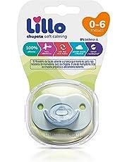 Chupeta Soft Calming 100% Silicone Simétrico Tam 1 (0-6 meses) - Lillo, Azul