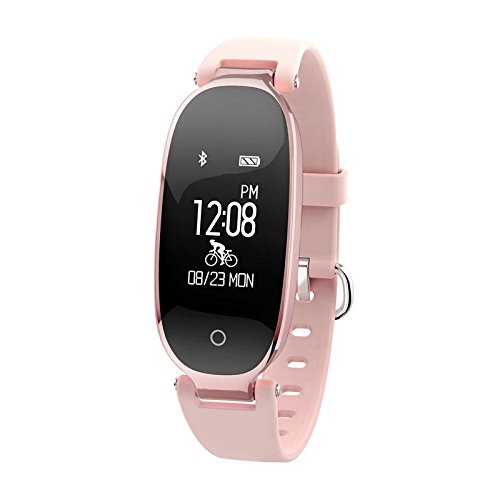 Fitness Tracker Smart Watch Womens with Heart Rate Monitor, Multi-sport Modes and GPS Tracking for Women - Cycling Treadmill Running (Rose Gold) -  Huiers