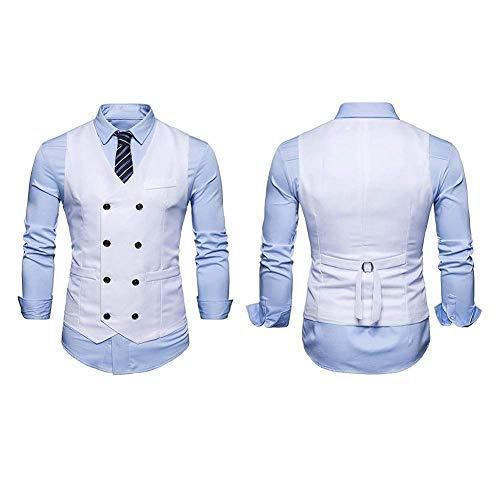 Sg Gilets Taille Hommes Leisure Baomwool Tuxedo 1 Blanc Moderne Business Pour Slim Vest Vintage couleur Fit Costume Mariage RrqRTFw