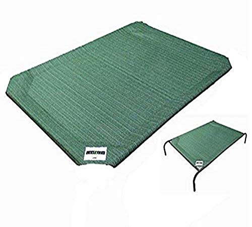 Coolaroo Replacement Cover, The Original Elevated Pet Bed by Coolaroo, Large, Brunswick Green
