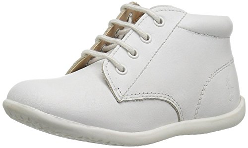(Polo Ralph Lauren Kids Baby Kinley First Walker Shoe, White Leather, 8.5 Medium US Toddler)