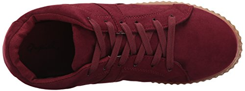Qupid Womens Rematch-04a Fashion Sneaker Bordeauxrood