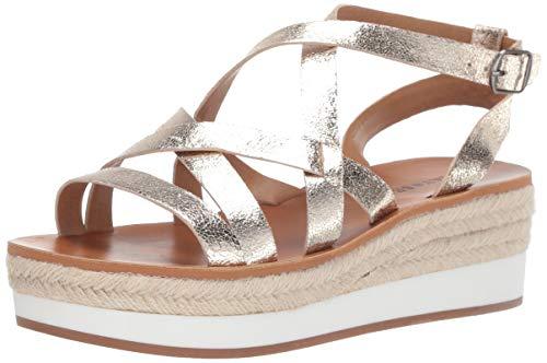 Lucky Brand Women's JENEPPER Espadrille Wedge Sandal, Platinum, 8.5 M US (Top Brands Shoes)