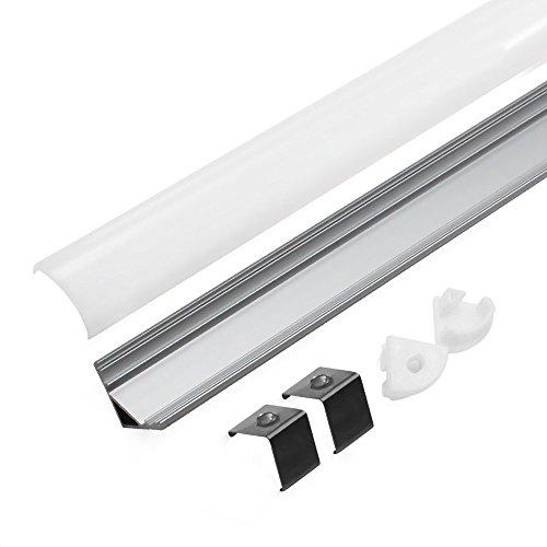 5 PACK Of 1M/3.3ft V-Shape Aluminum Channel For Corner