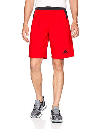 (adidas Men's Designed-2-Move Shorts, Hi-Res Red, Large)