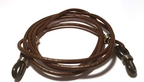 2 Pack Special Eyeglasses Cords - Classic Leather and Leather Tonga Brown - De Suave by De Suave Inc