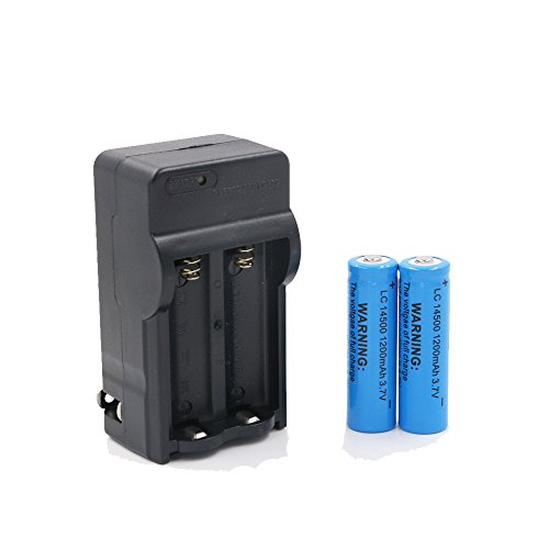 Mini Butterball 2PCS 14500 1200mAh 3.7V Protected Recharg...