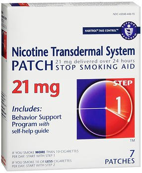 Habitrol Nicotine Transdermal System Patch 21 mg Step 1 - 7 ct, Pack of 5