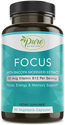 Pure By Nature Alert-Focus and Brain Clarity, 90 Count