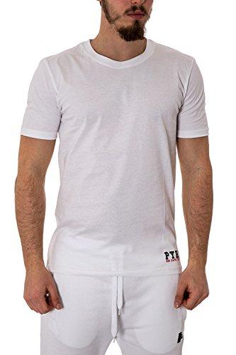 Herren regular fit printed t-shirt 33346 M Weiss