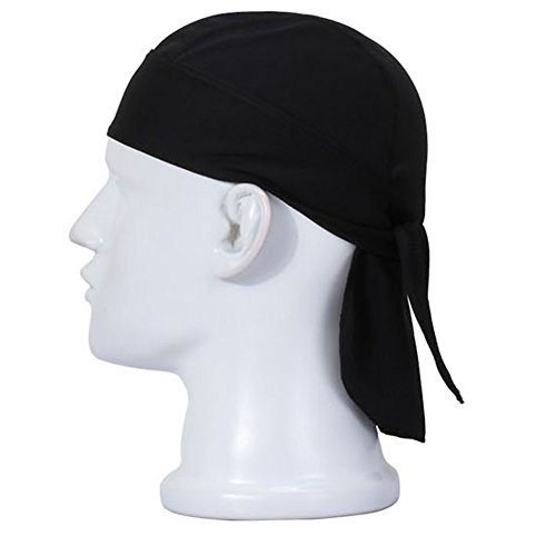 Aiyuda Multipurpose Quick Dry Breathable Sweatband Head Wraps Cycling Running Cap Pirate Hat Black (Custom Pirate Hat)