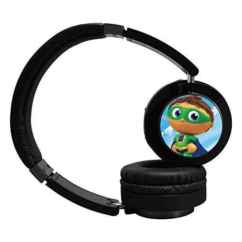 Super Why Active Noise Cancelling Wireless Bluetooth Over-ear Stereo Headphones - Black